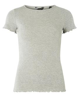 Grey Lettuce Edge T Shirt by Dorothy Perkins