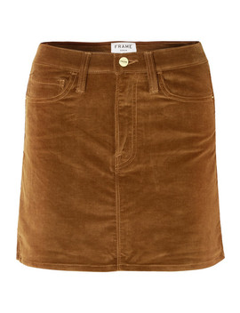 Le Mini Stretch Cotton Blend Corduroy Mini Skirt by Frame