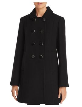 double-breasted-button-front-twill-coat by kate-spade-new-york
