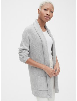 Longline Open Front Cardigan by Gap