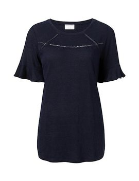 Linen Trim Tee by Witchery