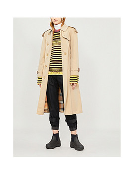 The Long Westminster Heritage Cotton Trench Coat by Burberry