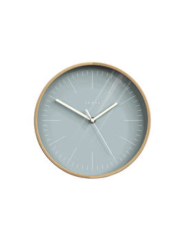Jones Cabin Clock, Dia.25cm, Blue by Jones Clocks
