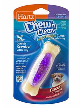 Hartz Chew 'n Clean Tuff Bone Bacon Scented Dental Dog Chew Toy by Hartz