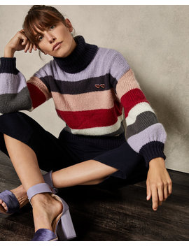 Mohair Striped Knit by Ted Baker