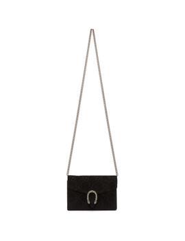 Black Gg Velvet Dionysus Wallet Bag by Gucci