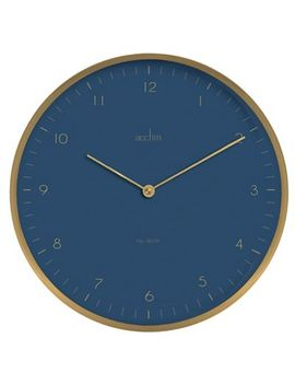 Acctim   Brushed Metal 'madison' Wall Clock 29519 by Acctim