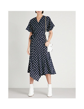 Eliana Polka Dot Print Crepe Midi Dress by Kitri