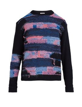Crewneck Cotton Blend Knit Sweater by Acne Studios