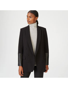 Torrie Leather Cuff Blazer by Club Monaco