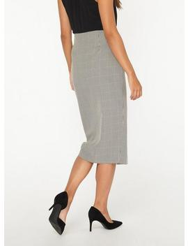 **Tall Monochrome Mutli Check Button Detail Pencil Skirt by Dorothy Perkins