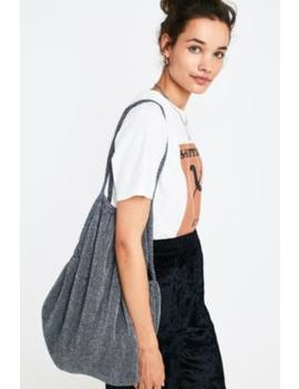 Uo Sparkle Plisse Pleated Shopper Tote Bag by Urban Outfitters