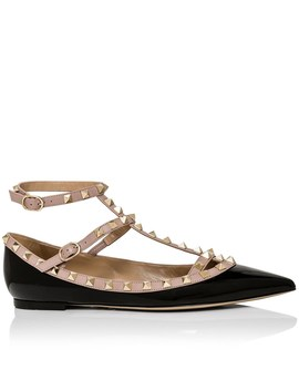 Rock Caged Patent Ballet Flat by Valentino