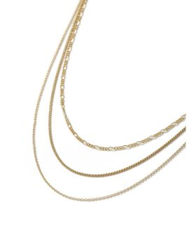 Gold Multi Row Necklace* by Topman