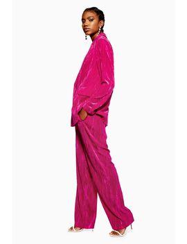 Crinkle Velvet Trousers by Topshop
