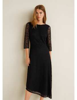"""<Font Style=""""Vertical Align: Inherit;""""><Font Style=""""Vertical Align: Inherit;"""">Asymmetric Lace Dress</Font></Font> by Mango"""