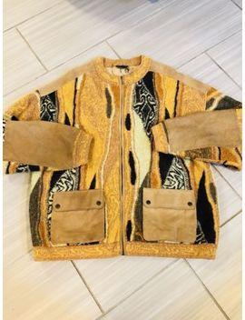 Original Coogi Australia  Vintage Multi Color Cardigan Sweater Cosby Biggie  3 X by Coogi