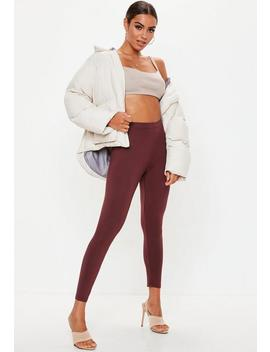 Brown Full Length Leggings by Missguided