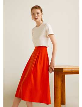 """<Font Style=""""Vertical Align: Inherit;""""><Font Style=""""Vertical Align: Inherit;"""">Midi Skirt With Pleats</Font></Font> by Mango"""