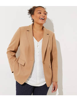 Loft Plus Elbow Patch Modern Blazer by Loft