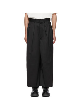 Black Wide Leg Trousers by Almostblack