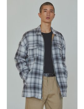 Pac Sun Editor's Choice Lunch Plaid Flannel Zip Shacket by Pacsun
