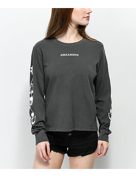 Desert Dreamer Flower Dream Team Black Long Sleeve T Shirt by Desert Dreamer