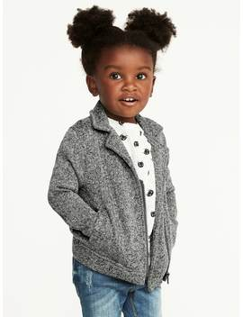 Fleece Knit Moto Jacket For Toddler Girls by Old Navy