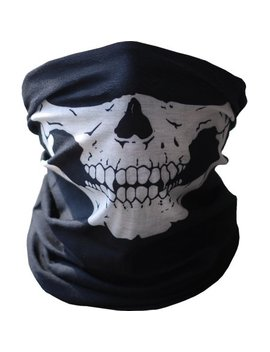 Seamless Skull Face Mask   Skeleton Tube Face Mask   Motorcycle Snowboarding Outdoor Face Protection Bandana Beanie Scarf Headband by Amazing For Less