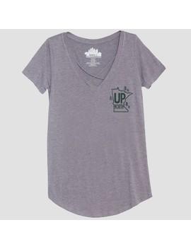 Women's Short Sleeve Up North Graphic T Shirt   Awake Heather Gray by Awake
