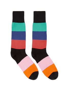 Multicolor Razzle Stripe Socks by Paul Smith