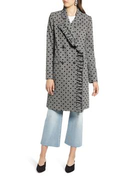 Flocked Dot Coat by Halogen®