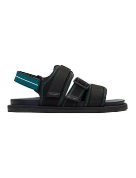 Black Hamptons Sandals by Boss