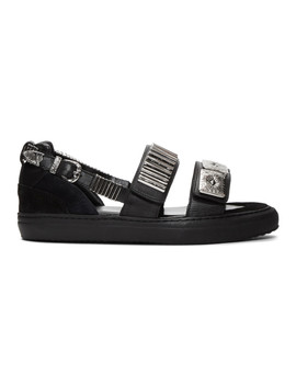 Black Dual Strap Sandals by Toga Virilis