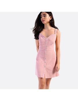 Amalie & Amber   Pink Corduroy Mini Dress by Amalie & Amber