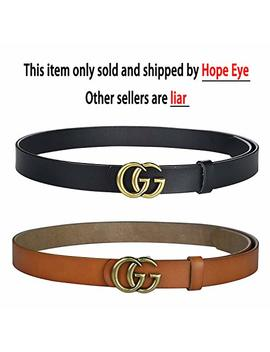 Fashion G Style Gold Buckle Unisex Cowhide Leather Belt Vintage Thin Dress Belts For Jeans by Save Your Money