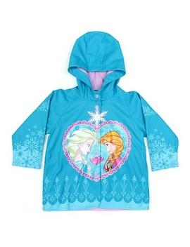 Toddler Girl Frozen Anna & Elsa Rain Coat Blue   License Frozen by Shop This Collection