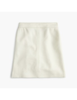 Tall Princess Mini Skirt In Double Serge Wool by J.Crew