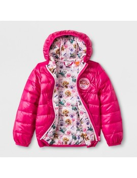 Toddler Girls' Paw Patrol Ultralight Hooded Quilted Jacket   Fuchsia by Paw Patrol