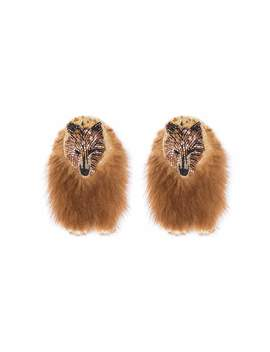 Bear Faux Fur Earrings by Mignonne Gavigan