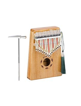 Kormest Kalimba Thumb Piano 17 Keys Solid Wood Afican Mbria Instrument Finger Piano Kit With Carry Bag,Music Book,Musical Scale Stickers And Tuning Hammer by Kormest