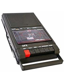 Qfx Retro 39 Shoebox Tape Recorder With Usb Player by Qfx