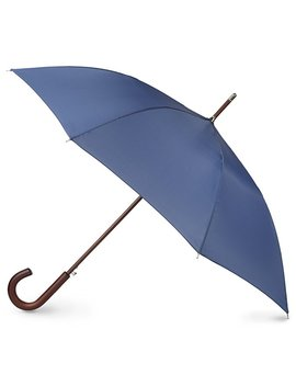 Totes Auto Open Wooden Handle J Stick Umbrella by Totes
