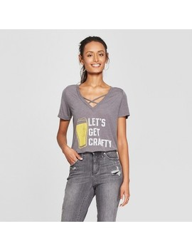 Women's Short Sleeve Let's Get Crafty Graphic T Shirt   Awake Heather Gray by Awake