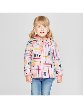 Toddler Girls' School Supplies Softshell Jacket   Cat & Jack™ Aqua by Cat & Jack™