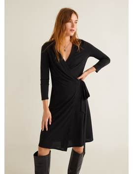 """<Font Style=""""Vertical Align: Inherit;""""><Font Style=""""Vertical Align: Inherit;"""">Wrap Dress With Waistband</Font></Font> by Mango"""