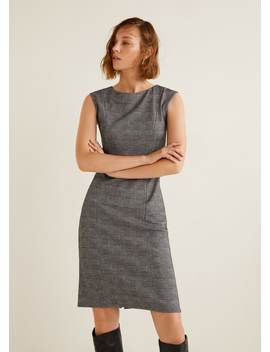 """<Font Style=""""Vertical Align: Inherit;""""><Font Style=""""Vertical Align: Inherit;"""">Checked Midi Dress</Font></Font> by Mango"""