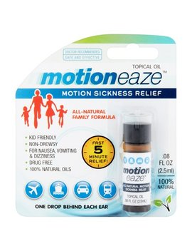 Motioneaze Motion Sickness Relief Topical Oil, .08 Fl Oz, 20 Application by Motion Eaze