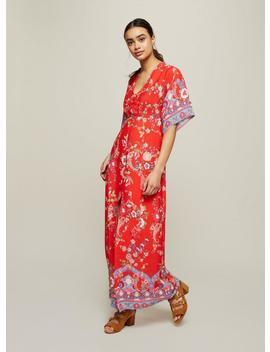 Print Button Kimono Maxi Dress by Miss Selfridge