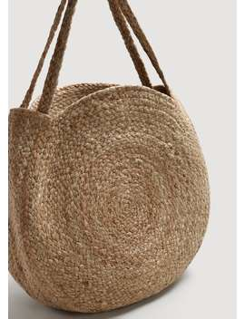 """<Font Style=""""Vertical Align: Inherit;""""><Font Style=""""Vertical Align: Inherit;"""">Jute Tote Bag</Font></Font> by Mango"""